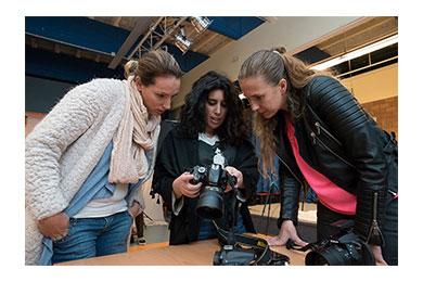 Tijdens een les Portretfotografie